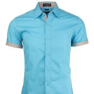 Trimmed Short Sleeve Shirt
